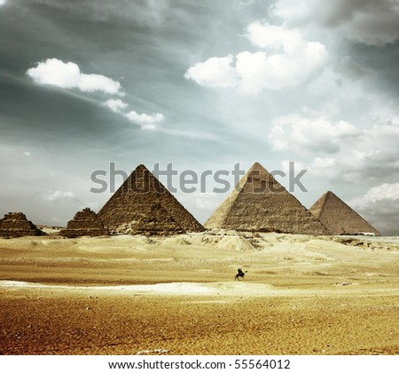Stock Photo Grate pyramids in Giza valley