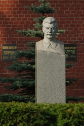 Grave of Soviet dictator Josef Stalin at Red Square in Moscow, Russia