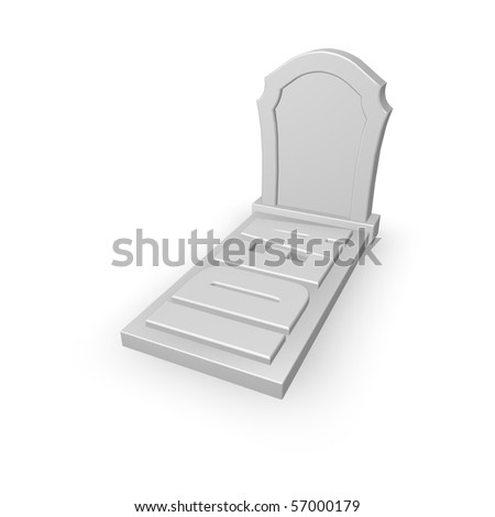 grave stone with the word idea - 3d illustration