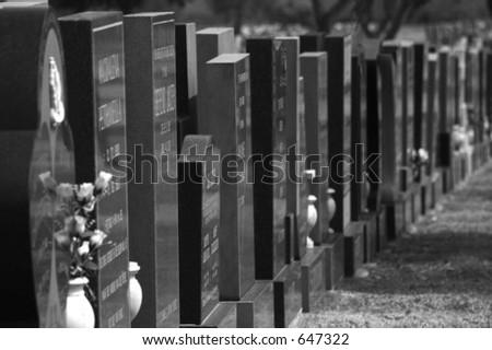 Grave yard - stock photo