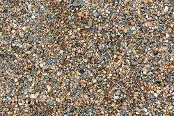 Gravel and sand close up. Abstract background for project and design.