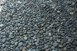 Gravel gray rock background texture. Abstract gravel background. - Image