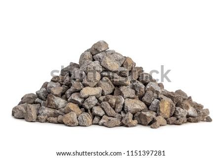 Gravel 5-20mm on white background #1151397281