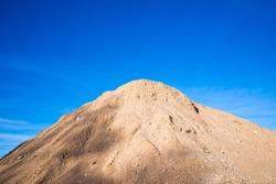 Gravel sand heap