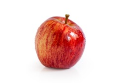 Gravenstein red apple isolated on white background