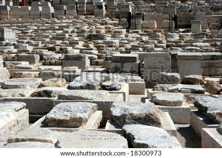 Graves on the Mount of Olives in Jerusalem