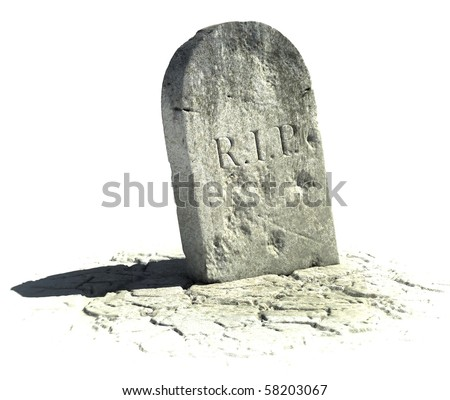 gravestone on the white background