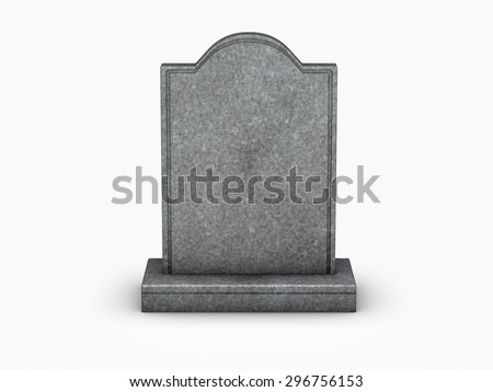 gravestone on white background Stock photo ©