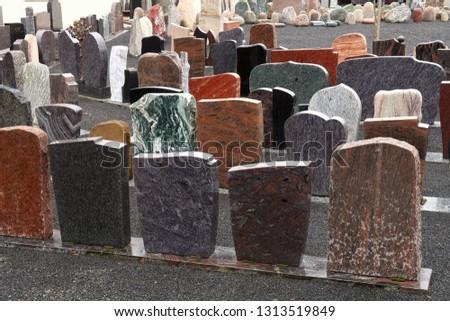 Gravestones and stonemasonry operation ストックフォト ©
