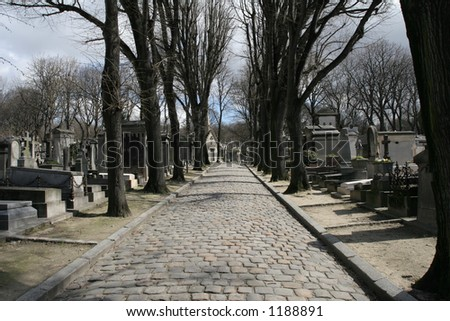 Graveyard Pere Lachaise - stock photo