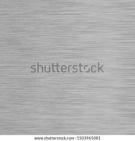 Gray aluminum or steel background texture with brushed effect #1503965081