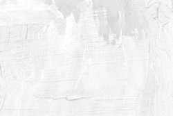 gray and white of oil painting with clear brush strokes on canvas texture background for your pattern  design or decoration