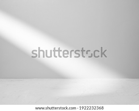 Gray background for product presentation with beam of light