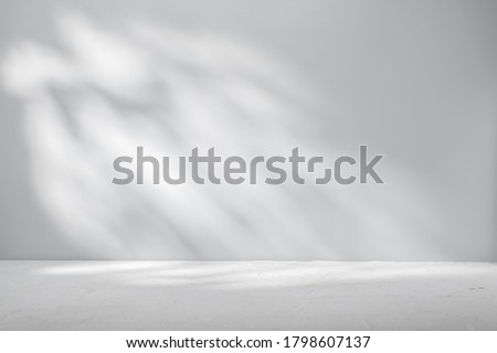 Gray background for product presentation with beautiful lights and shadows