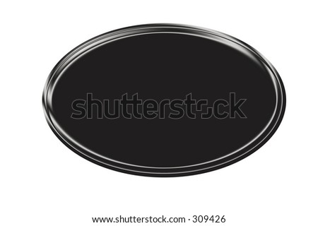 Gray/Black Metallic Oval