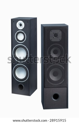 Gray-black speaker isolated on white background