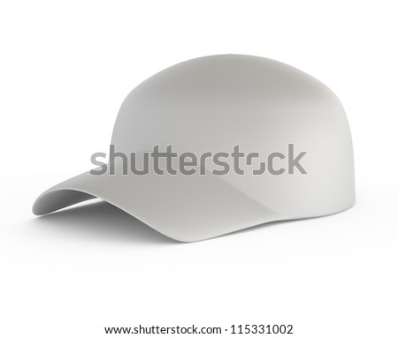 Gray Blank Baseball Cap - 3d illustration