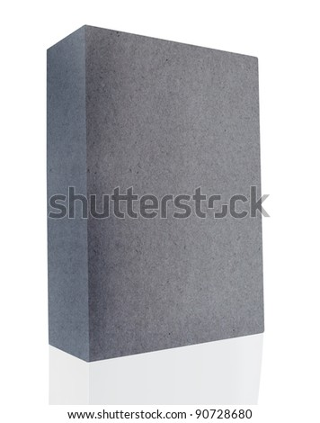gray blank book grunge cover on white background