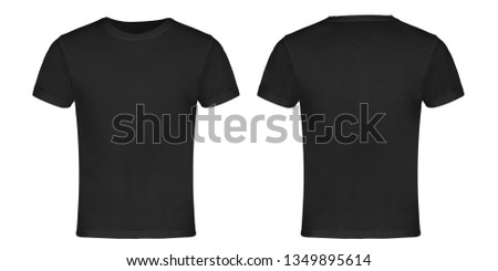 Gray Blank T-shirt Front and Back #1349895614