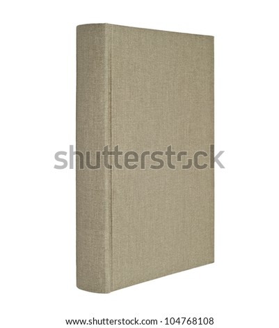 Gray book isolated on white