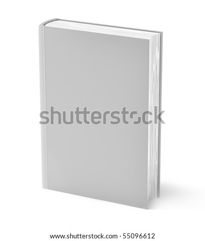 Gray book isolated on white . Clean cover