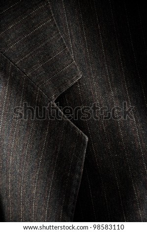 Gray business suit, close up detail