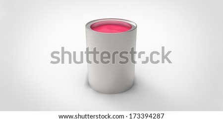 Gray can with pink paint #173394287
