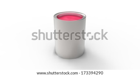 Gray can with pink paint #173394290
