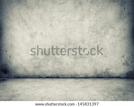 gray concrete wall and floor