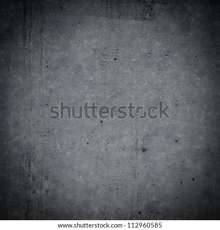 gray concrete wall background. Dark edged