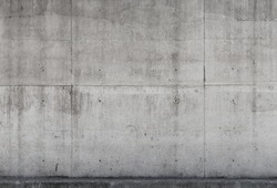 Gray concrete wall, background photo texture, front view