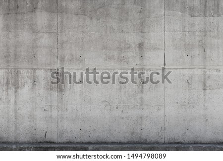 Gray concrete wall, background photo texture, front view #1494798089