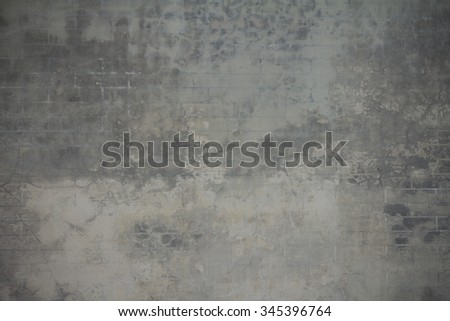 Gray concrete wall. Cement wall #345396764
