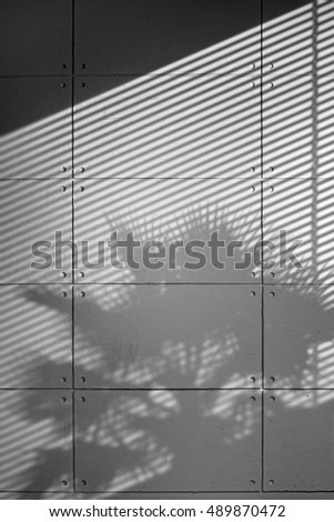 Gray Concrete Wall With Triangle And Blinds Shadow Texture Ez Canvas