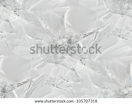 Gray Cracked Glass Seamless Pattern Texture