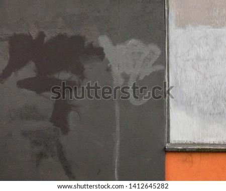 Gray Dark Gray Orange Abstract Background Wall Design Pattern Graffiti Grunge #1412645282
