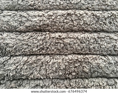 Gray fabric carpet with long pile texture background Stock fotó ©