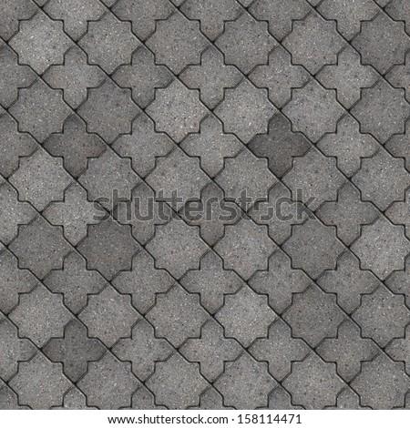 Gray Figured Pavement. Seamless Tileable Texture.
