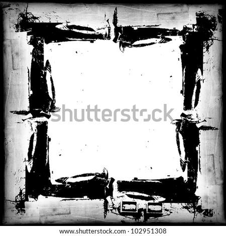 gray frame - stock photo