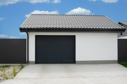 Gray garage sectional doors,  industrial sectional gate