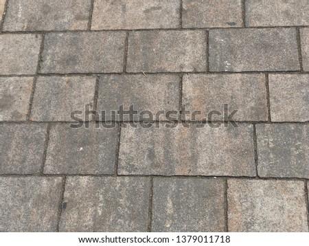 Gray granite Pavement