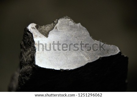 Gray Graphite From Siberia, Crystalline, Allotropic Form. #1251296062
