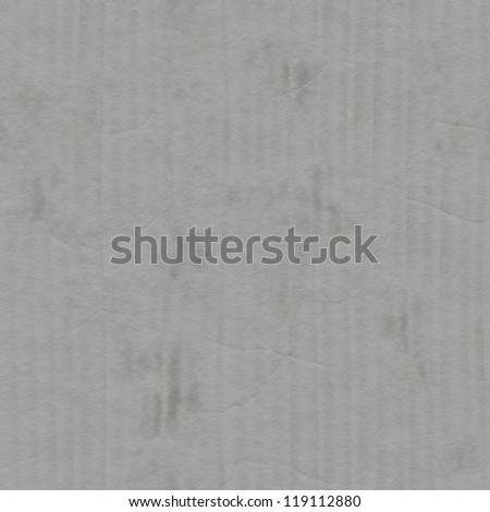 Gray grunge corrugated cardboard background or texture