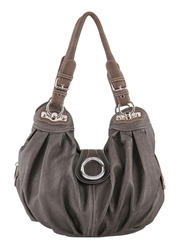 gray handbag isolated white