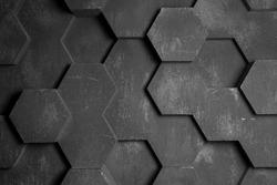 Gray Hexagon Background Texture