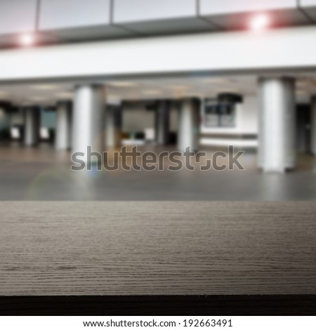 gray interior of airport and dark free space