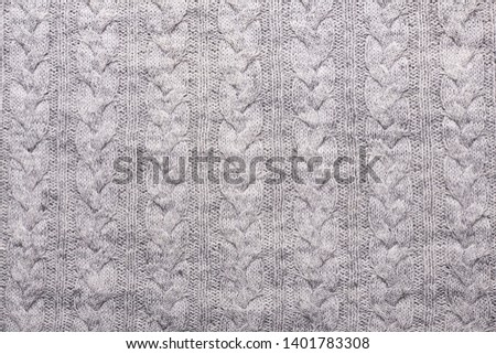 350f30faa2d Gray knitting wool texture background Crocheted fabric texture