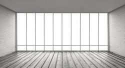 gray loft and big window
