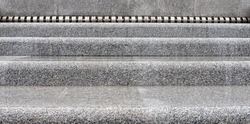 gray marble staircase close up. Stairs up concept