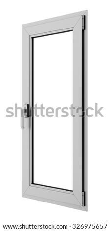 gray metallic window isolated on white background #326975657